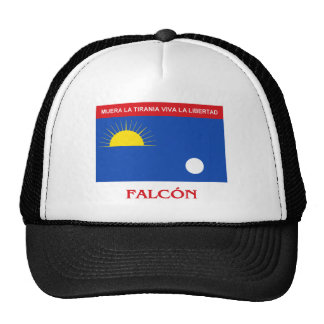 Bandera de Falcón con nombre Gorros Bordados