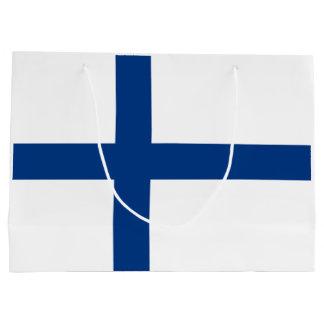 Bandera de Finlandia Bolsa De Regalo Grande