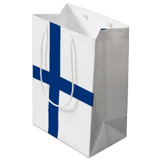 Bandera de Finlandia Bolsa De Regalo Mediana