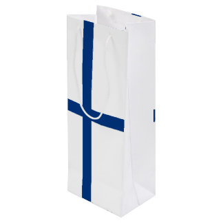 Bandera de Finlandia Bolsa Para Vino
