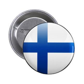 Bandera de Finlandia Chapa Redonda De 5 Cm