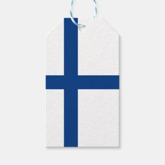 Bandera de Finlandia Etiquetas Para Regalos