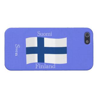 Bandera de Finlandia iPhone 5 Cárcasa