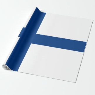 Bandera de Finlandia Papel De Regalo