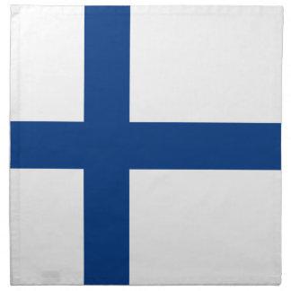 Bandera de Finlandia Servilleta De Tela