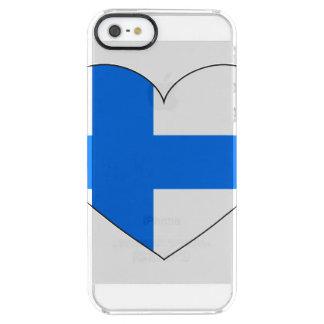 Bandera de Finlandia simple Funda Transparente Para iPhone SE/5/5s