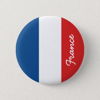 Bandera de Francia Chapa Redonda De 5 Cm