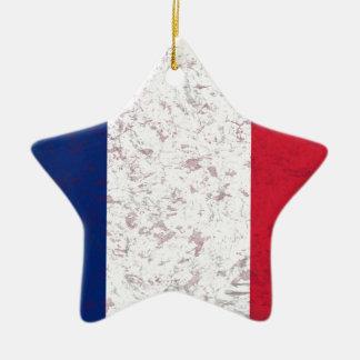 Bandera de Francia del la de Pavillon de Francia Ornamentos De Navidad