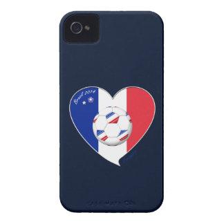 Bandera de FRANCIA FÚTBOL nacional del mundo 2014 iPhone 4 Funda