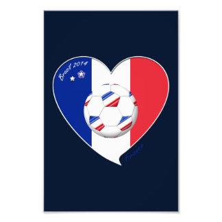 Bandera de FRANCIA FÚTBOL nacional del mundo 2014 Arte Con Fotos