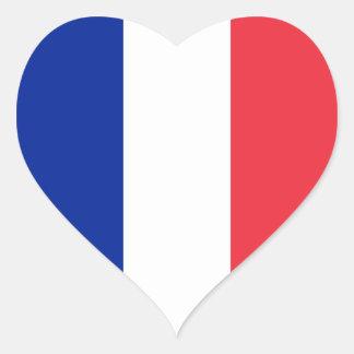 Bandera de Francia Pegatina En Forma De Corazón