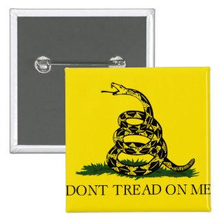 Bandera de Gadsden Chapa Cuadrada
