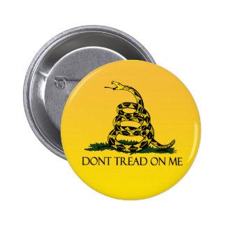 Bandera de Gadsden, fondo amarillo Chapa Redonda De 5 Cm