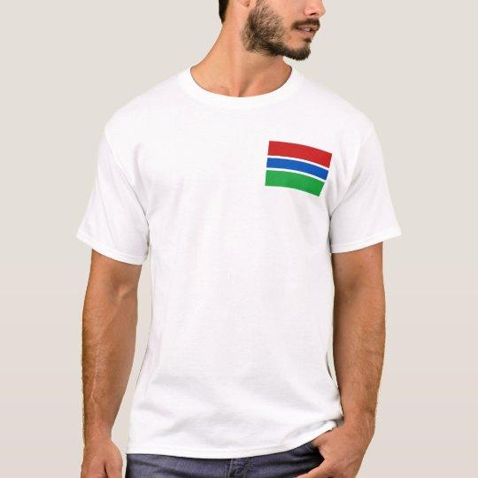 Bandera de Gambia y camiseta del mapa