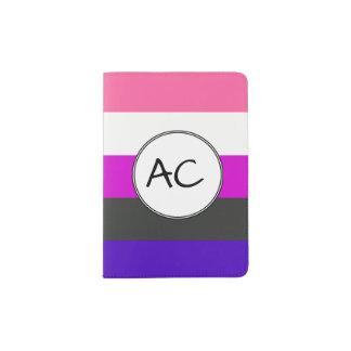 Bandera de Genderfluid Porta Pasaportes