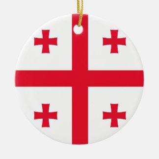 Bandera de Georgia Adorno De Cerámica