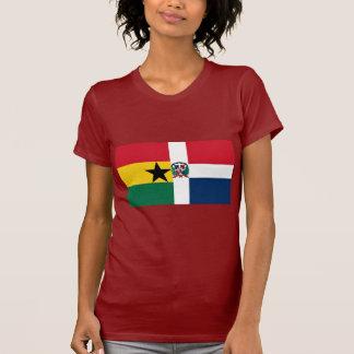 Bandera de Ghana y de la República Dominicana Camisetas