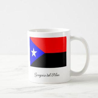 Bandera de Gregorio del Pilar Taza Básica Blanca