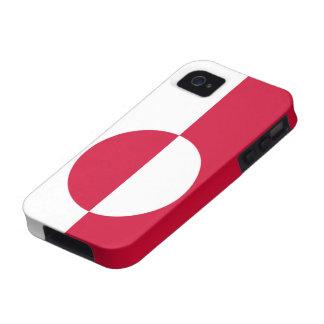 Bandera de Groenlandia Case-Mate iPhone 4 Carcasa