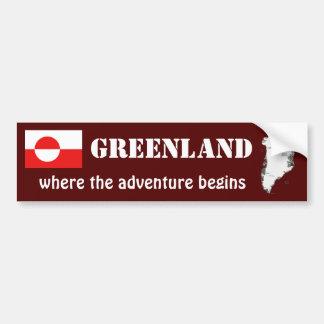 Bandera de Groenlandia + Pegatina para el
