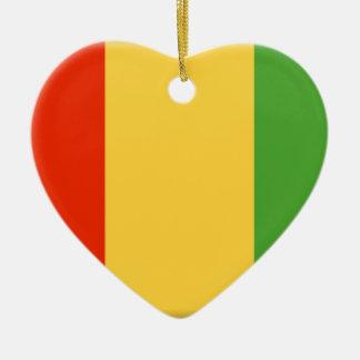 Bandera de Guinea Adorno De Cerámica En Forma De Corazón