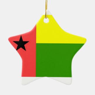 Bandera de Guinea-Bissau Adorno De Cerámica En Forma De Estrella