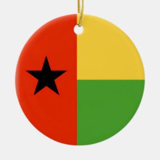 Bandera de Guinea-Bissau Adorno Redondo De Cerámica