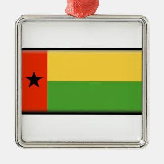 Bandera de Guinea-Bissau Adorno Navideño Cuadrado De Metal