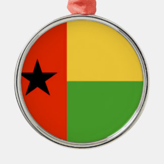Bandera de Guinea-Bissau Adorno Navideño Redondo De Metal