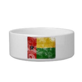 Bandera de Guinea-Bissau Comedero Para Mascota