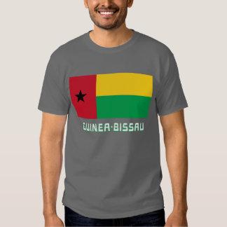 Bandera de Guinea-Bissau con nombre Camisetas