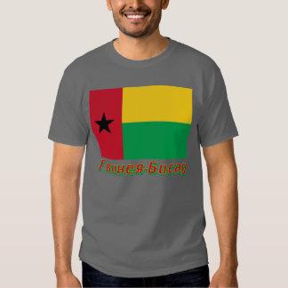 Bandera de Guinea-Bissau con nombre en ruso Camisetas