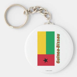 Bandera de Guinea-Bissau con nombre Llaveros