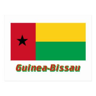 Bandera de Guinea-Bissau con nombre Postal
