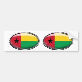 Bandera de Guinea-Bissau en el óvalo de cristal Pegatina Para Coche