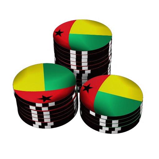 Bandera de Guinea-Bissau Juego De Fichas De Póquer