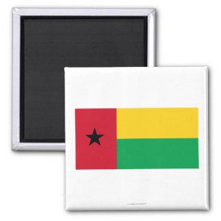 Bandera de Guinea-Bissau Imán Cuadrado