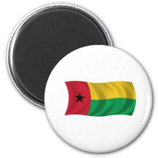 Bandera de Guinea-Bissau Imán Redondo 5 Cm