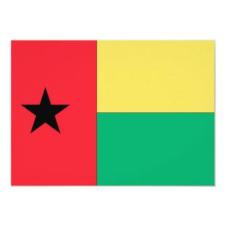 Bandera de Guinea-Bissau Invitación 12,7 X 17,8 Cm