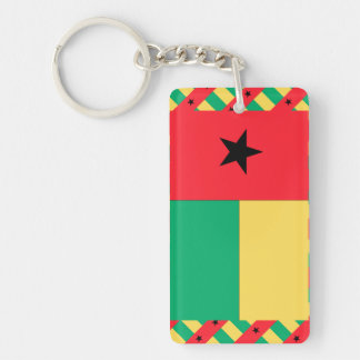Bandera de Guinea-Bissau Llavero Rectangular Acrílico A Una Cara