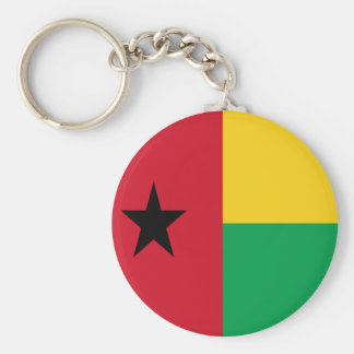Bandera de Guinea-Bissau Llavero Redondo Tipo Chapa
