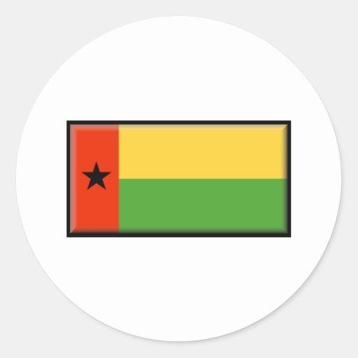 Bandera de Guinea-Bissau Etiquetas Redondas