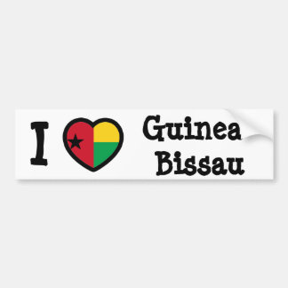 Bandera de Guinea-Bissau Pegatina De Parachoque