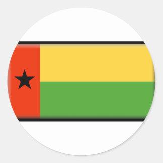 Bandera de Guinea-Bissau Pegatina Redonda