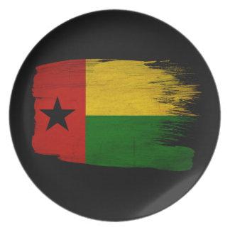 Bandera de Guinea-Bissau Plato De Comida