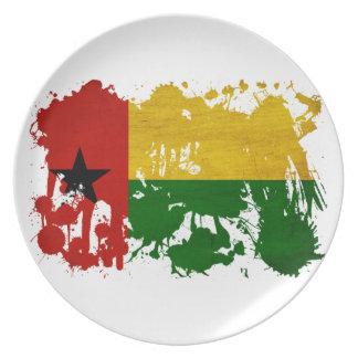Bandera de Guinea-Bissau Plato Para Fiesta