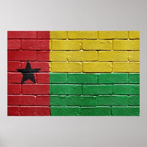 Bandera de Guinea-Bissau Poster