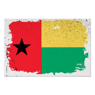 Bandera de Guinea-Bissau Póster