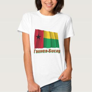 Bandera de Guinea-Bissau que agita con nombre en Camiseta