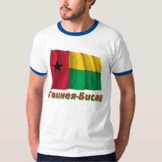 Bandera de Guinea-Bissau que agita con nombre en Camisetas